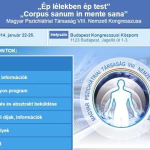 Előadás a Magyar Pszichiátriai Társaság VIII-ik Nemzeti Kongresszusán, 2014